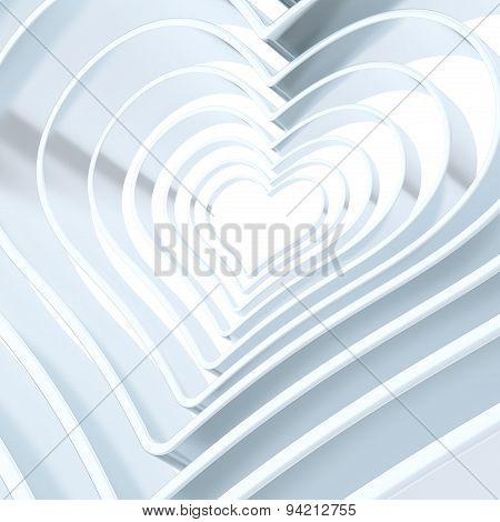 Heart shape figure abstract background