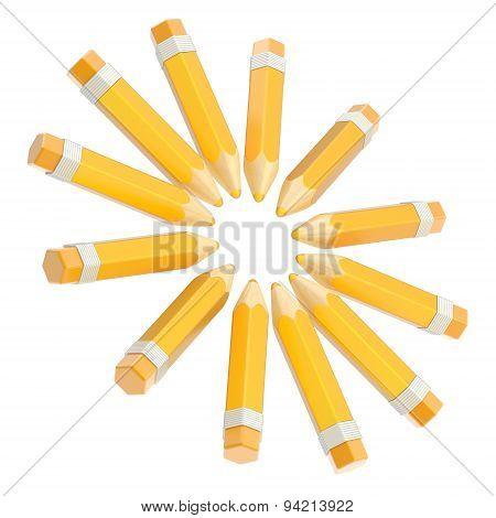 Round pencil composition