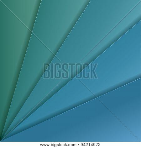 Abstract Vector Background With Turquoise And Celadon Paper Layers