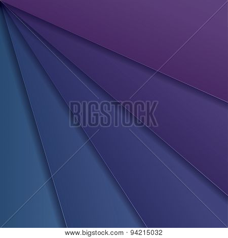 Abstract Background With Blue And Purple Paper Layers. Vector Illustration