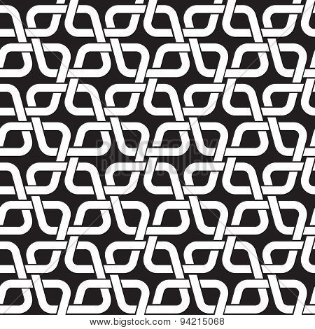 Seamless pattern of intertwined rhombuses
