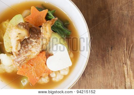 Hot And Sour With Fish, Delicious Thai Traditional Food.
