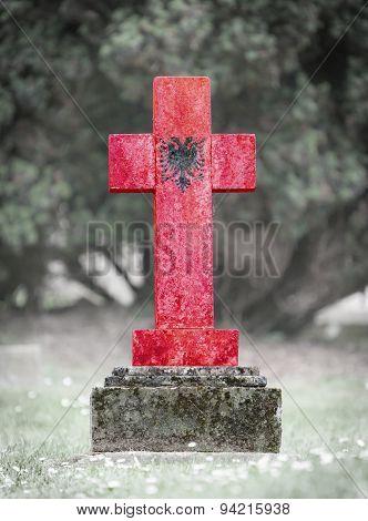 Gravestone In The Cemetery - Albania