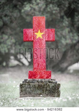 Gravestone In The Cemetery - Vietnam