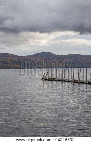 Pier over lake