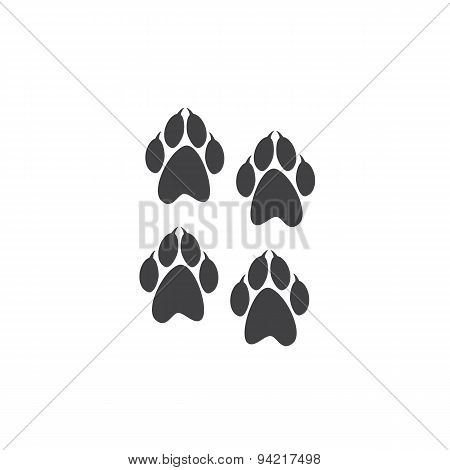 Paw Prints With Clutches