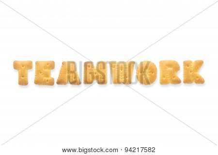 The Letter Word Teamwork Alphabet  Cookie Biscuits