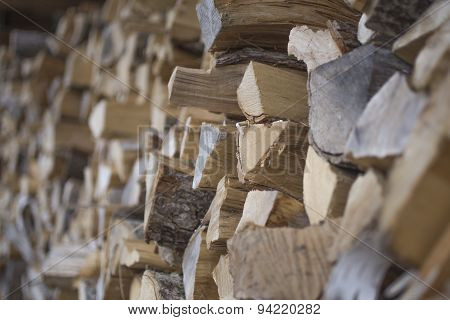 pile of cut fire wood