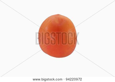 Fresh red tomato isolated on white.