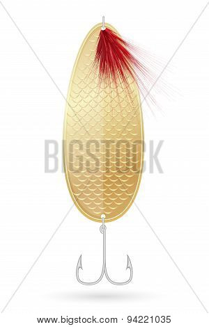Spoon-bait For Fishing Vector Illustration