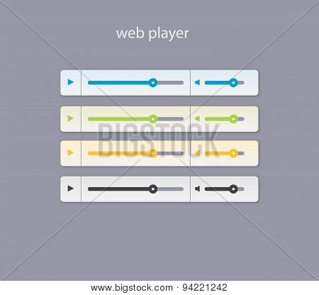 Web Player With Light Colors