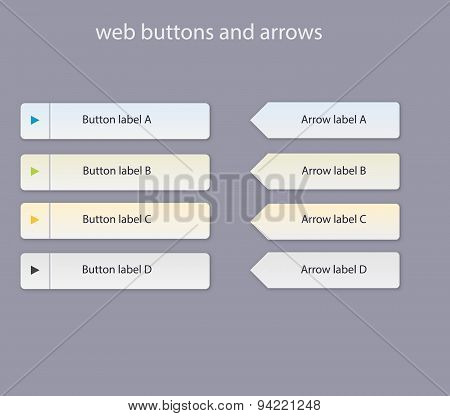 Web Buttons With Light Colors