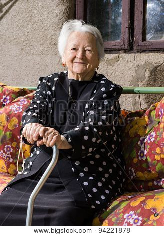 Beautiful Smiling Old Woman
