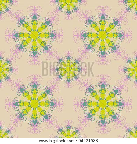 Seamless pattern. Decorative elements