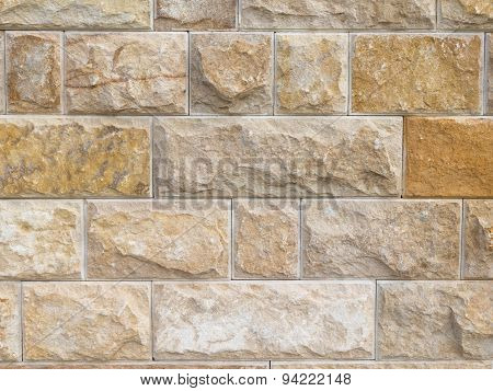 Wall Made Of Natural Sandstone
