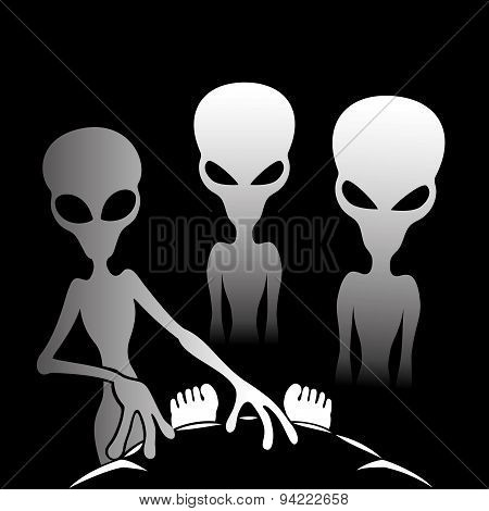 Three alien.