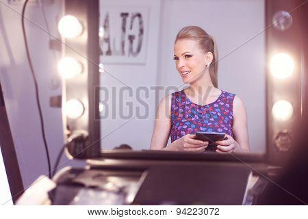 Beautiful Bride To Be At Make Up Studio