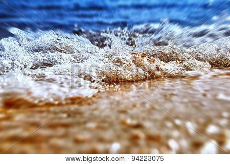 Sea Shore In Splashing Motion