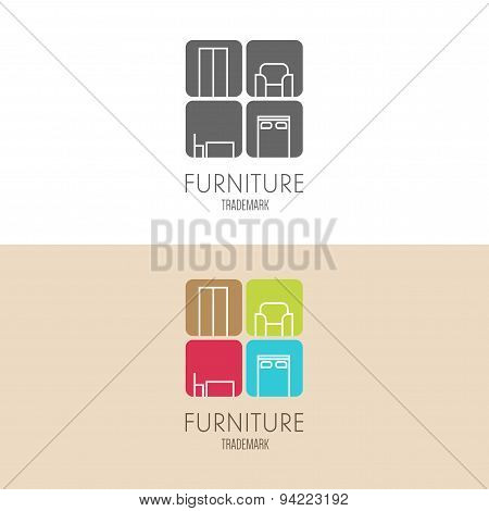 Logo, Badge Or Label Inspiration With Furniture