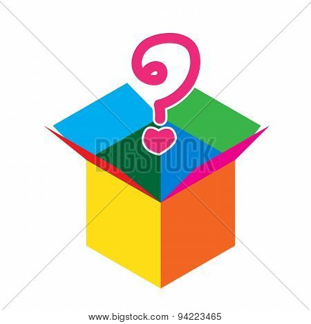 Colorful Empty Opened Cardboard Box