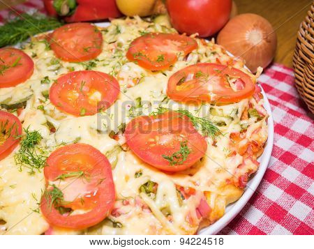 Pizza Meat Fest With Tomatoes