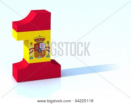 One made with Spanish Flag