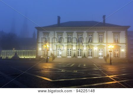 Morning Fog In The Center Of Luxembourg City