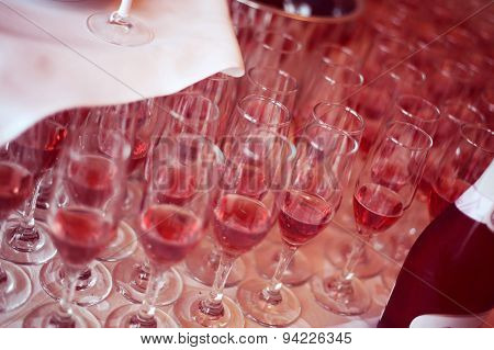 Glasses With Red Drink