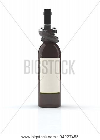 Wine Bottle With Knot