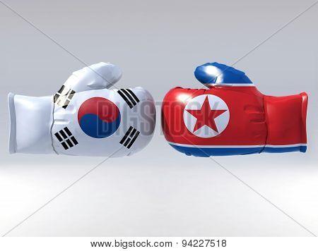 Boxing Gloves With Korean Flag