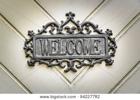 Sign - welcome.