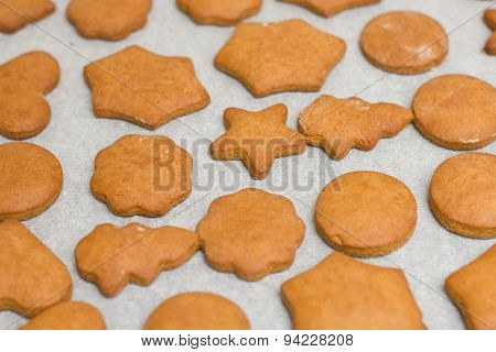 Fresh Baked Gingerbread Cookies