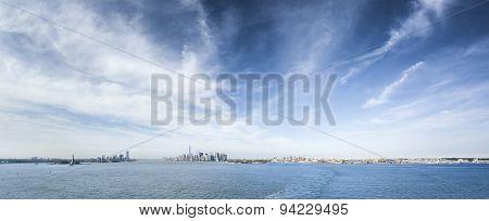 A panoramic image of New York Manhattan