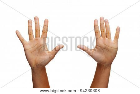 gesture and body parts concept - two woman hands waving hands
