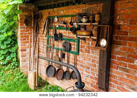 Old Tools And Kitchen Appliances