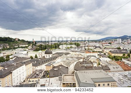 Historic Salzburg cityscape, Austria, Europe, in summer