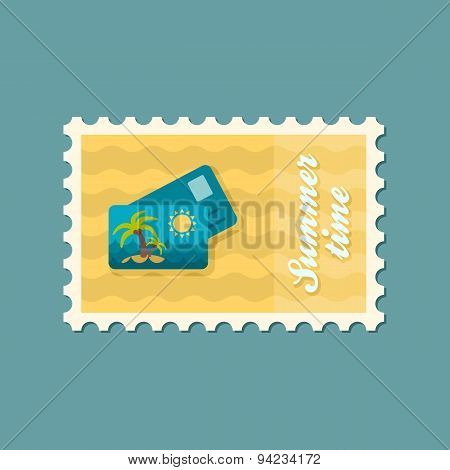 Card With Palm Flat Stamp, Summertime
