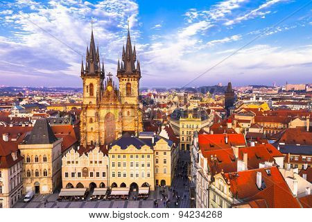 beautiful Prague . Old town