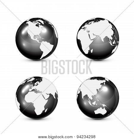 Black Earth Globe