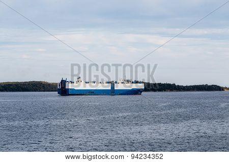 Massive Blue And White Tanker