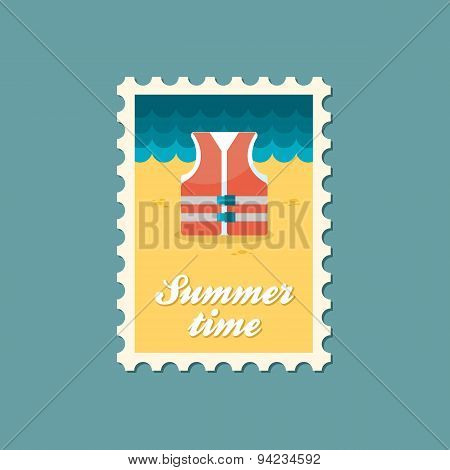 Life Jacket Flat Stamp, Summertime