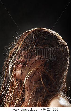 Fluffy Wet Hair