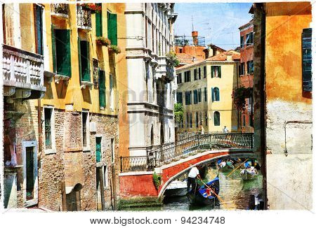 Venetian canals. Artistic picture