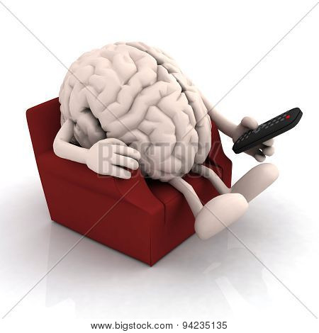 Human Brain Watching Television From The Couch