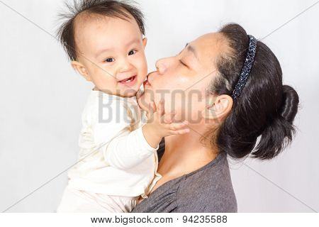 Asian Mom And Baby