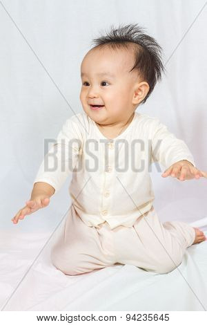 Asian Chinese Baby Smiling