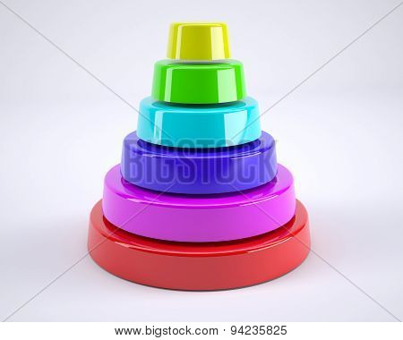 Plastic Toy Multicolored