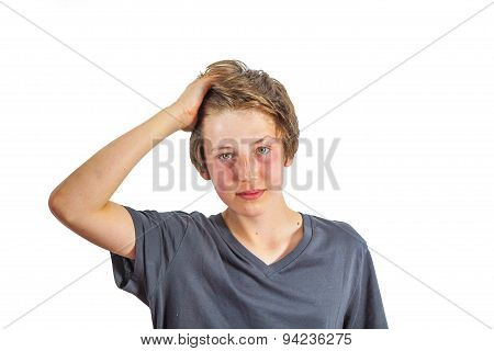 Happy Boy Tearing Ones Hair