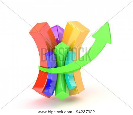 Multicolored diagram