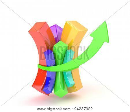Multicolored diagram